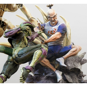 Hunter X Hunter - Figurine Netero vs Meruem Diorama