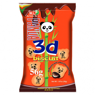 Paquet Panda 3D Chocolat