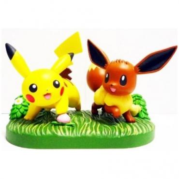 Pokemon - Figurine Evoli et Pikachu Premium