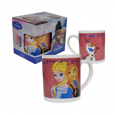 La Reine Des Neiges - Mug Elsa Et Anna Version Rose