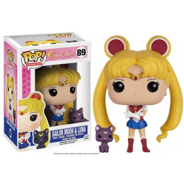 Sailor Moon - Figurine Sailor Moon Et Luna POP