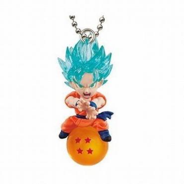 Dragon Ball Super - Strap Mini Figurine Goku Super Saiyan God