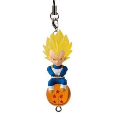 Dragon Ball Super - Strap Mini Figurine Vegeta Super Saiyan QD Mascott