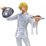 One Piece - Figurine Sanji Vinsmoke Plateau Ichiban Kuji Version Blanche