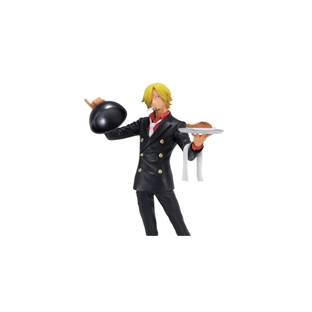 One Piece - Figurine Sanji Vinsmoke Plateau Ichiban Kuji Version noire