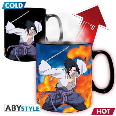 Naruto Shippuden - Mug Thermo Reactif Sasuke Uchiha Et Naruto