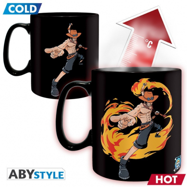One Piece - Mug Thermo Reactif Luffy
