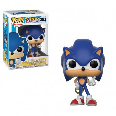 Sonic The Hedgehog - Figurine POP Sonic avec Anneaux
