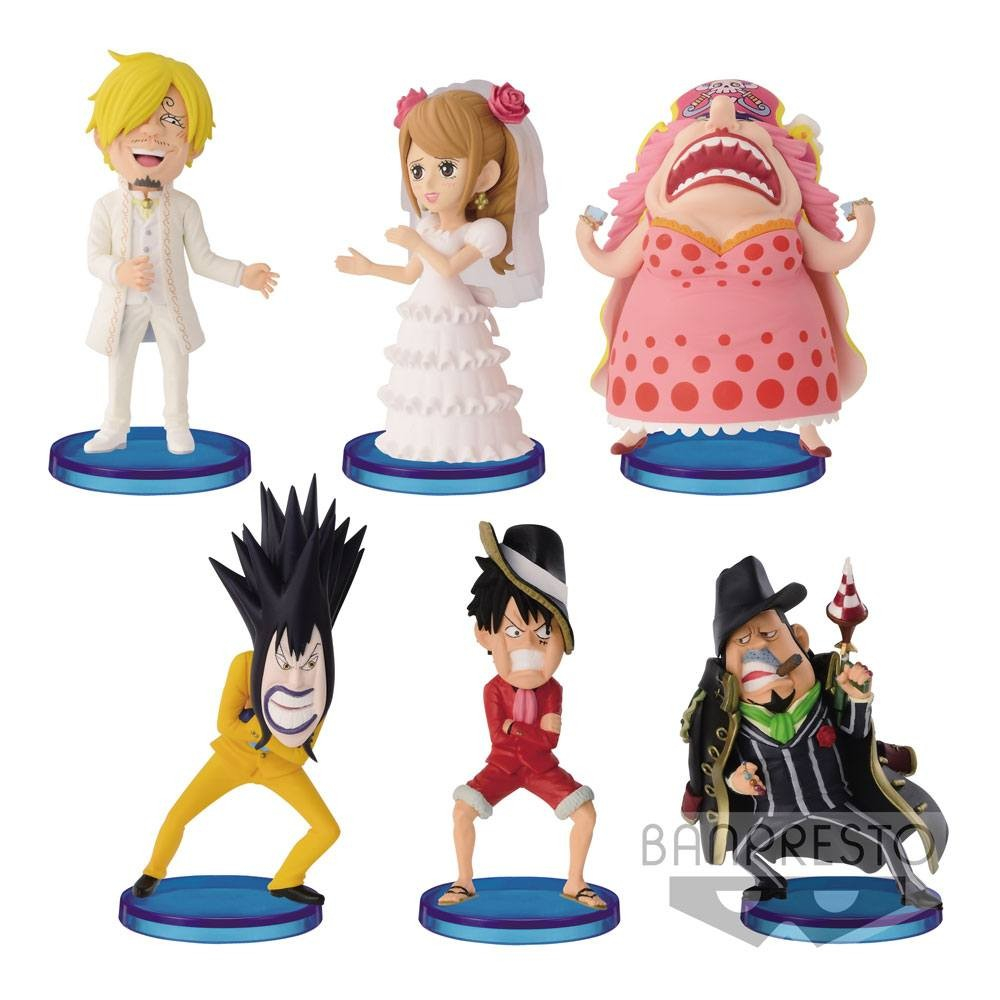 One Piece - Pack Figurines WCF Chibi Hall Cake Island Vol. 2