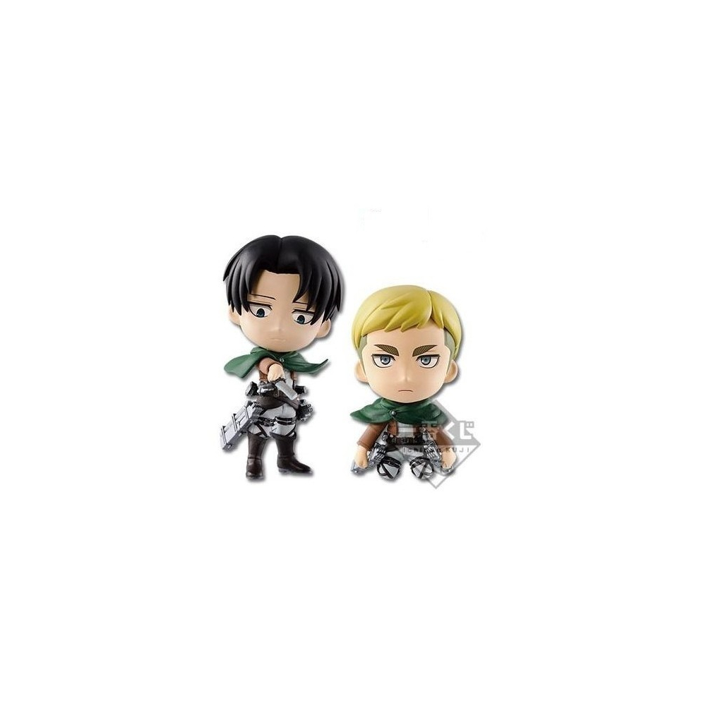 Attack On Titan - Figurine Rivaille Et Erwin Ichiban Kuji Lot C