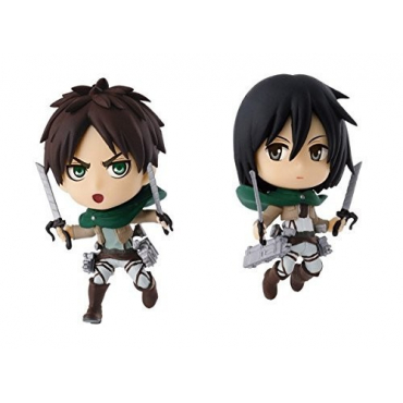 Attack On Titan - Figurine Eren Et Mikasa Ichiban Kuji Lot B