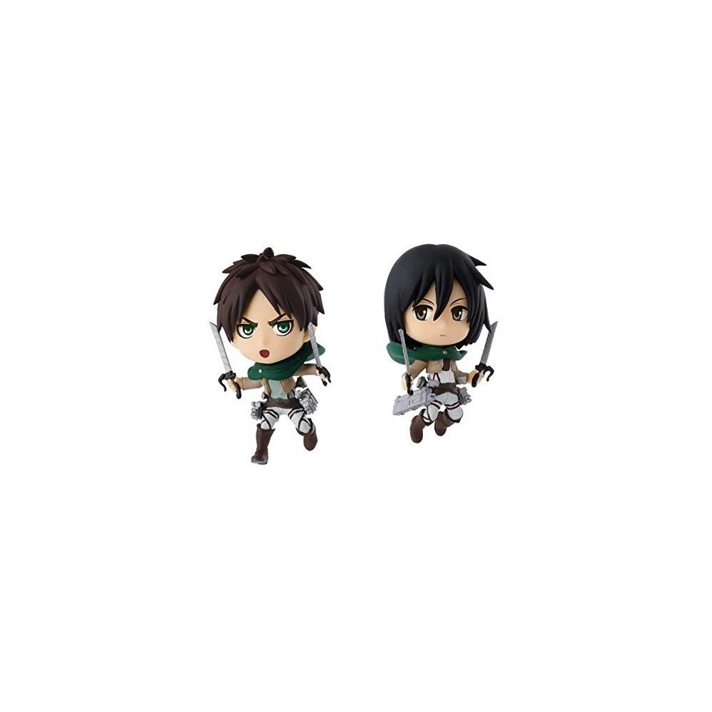 Attack On Titan - Figurine Eren Et Mikasa Ichiban Kuji Lot B