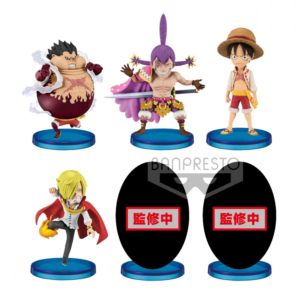 One Piece - Pack Figurine WCF Battle of Luffy Whole Cake Island Asst
