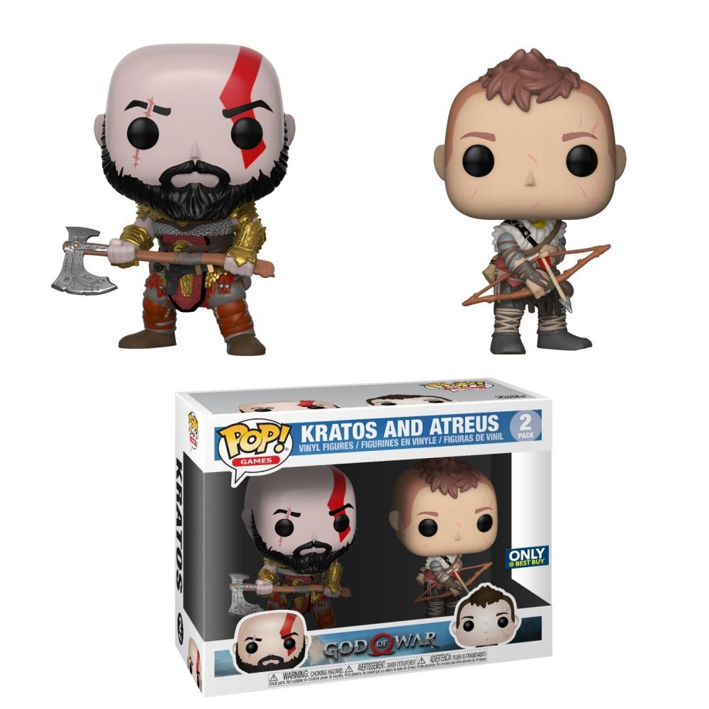 God Of War - Pack Figurines POP Atreus Et Kratos